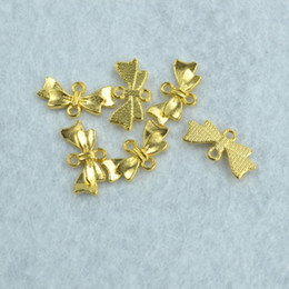 Bracelet Connector Pendant Australia - racelets for making jewelry 130pcs new design Gold metal charms Bow tie pendants connector,necklace or bracelets for jewelry making Z142...