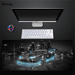 $enCountryForm.capitalKeyWord NZ - Blue light cool mouse pad black pad natural game player exclusive rubber non-slip waterproof large size pad gift