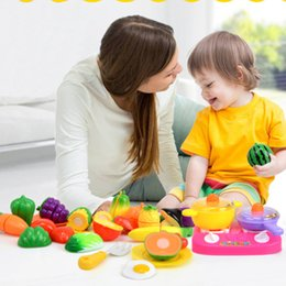 fruit cutting toy for kids Canada - Cutting Fruit Vegetable Food Pretend Play Do House Toy Children's Kitchen Kawaii Educational Toys Gift for Girl Kids