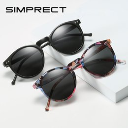 black round sunglasses for women NZ - SIMPRECT Polarized Sunglasses Women 2019 Mirror Round Sunglasses Retro Vintage Driver's Sun Glasses UV400 Black Shades For Women
