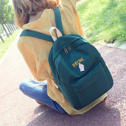 school bags woman NZ - Free2019 Woman Bag A Original Old School Wind Small Medium Backpack Embroidery Campus Men And Women Student Both Shoulders Package Canvas