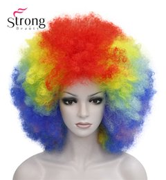 $enCountryForm.capitalKeyWord UK - Afro Jumbo Festival Fans Wig clown Costume Halloween Dress Up party Wigs Synthetic Hair COLOUR CHOICES