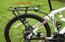 "Aluminum 24 Bike Australia - 30kg is safe,Black Alloy Aluminum bike Rear Rack fit Disc Brake V brake and 24 26 28"" wheel,bicycle backseat,luggage rack #671906"