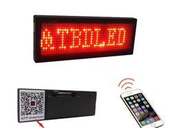 Wireless Send Mobile APP Bluetooth Change Words LED Badge Letters Glowing Gifts LED Waiter Badge LED Display on Sale
