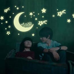 $enCountryForm.capitalKeyWord Australia - Kids Rome Night Luminous Decor The Moon Pattern Home Decor Mural Decals Pvc Removable Fluorescence Wall Stickers