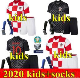 Wholesale 2020 boys youth Soccer Jerseys PERISIC 20 21 MODRIC MANDZUKIC REBIC kits Football Shirt RAKITIC kids Kit uniforms