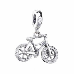 China 2019 Spring 925 Sterling Silver Brilliant Bicycle Pendant Charm Bead For European Pandora Jewelry Charm Bracelets suppliers