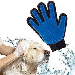 Cabelo de cão de estimação Nova Limpeza Massagem Pet Escova Luva Para Remover O Cabelo De Animais Domésticos Dog Grooming Luva Para Pentear Gatos Bens