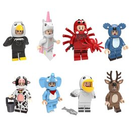 $enCountryForm.capitalKeyWord NZ - Animal Cow Elephant Eagle Pelican Elk Spider Koala Unicorn Mini Toy Figure Building Block