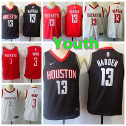 Kids embroidered shirt online shopping - 2019 New Youth James Harden Houston Rocket Kids Basketball Jersey Stitched Chris Paul Boys Basketball Shirts Stitching Embroidery