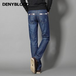 dd50f01b8ccdc Discount mens scratch jeans - Denyblood Jeans Darked Wash Jeans Mens Blue  Black Cotton Denim Straight
