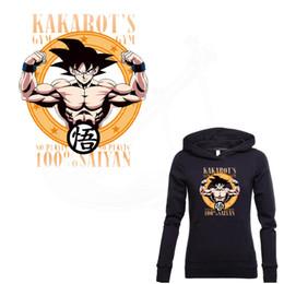 $enCountryForm.capitalKeyWord Australia - Popular anime DRAGON BALL 100% saiyan Stickers Patch For Clothing A-level Washable DIY T-shirt Hoodies decoration