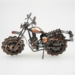 Discount wrought iron models - Metal Crafts Motorcycle Model Handmade Wrought Iron Motorcycle Model Metal Handicraft Artware Craft Collection Home Tabl