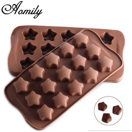 fondant cakes stars Australia - Aomily 15 Holes 3D Star Shaped Silicone Soap Candy Fondant Chocolate Kitchen Mould Silicone Chocolate Cookies Cake DIY