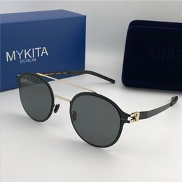 97c2e95401 new MYKITA CROSBY sunglasses ultralight frame without screws goggles frame  flap top men brand designer retro coating mirror lens