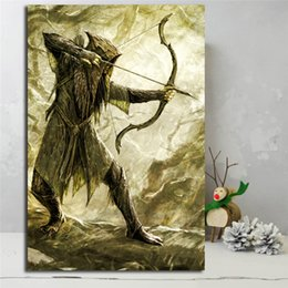 Printed Rings Australia - Lord Of The Rings Mirkwood Hobbit HD Poster Canvas Painting Oil Framed Wall Art Print Pictures For Living Room Home Decoracion