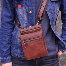 small vintage messenger bag 2019 - AETOO Retro leather men's Messenger bag head layer leather vertical small bag summer casual phone discount small vi