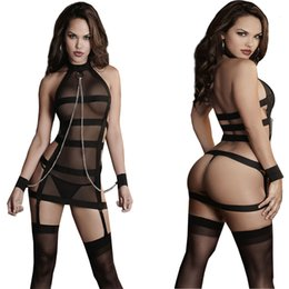 BaBy dolls lingerie sex online shopping - 2016 Women Sexy Lingerie Hot Porn Lace Hand Lingerie Baby Doll Sexy Costumes Shackle Bundled Sex Products Exotic Apparel C19010801