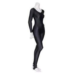 Wholesale long sleeve sexy catsuit resale online – Speerise Women Shiny Long Sleeve Dance Unitard Stirrup Adults Spandex Gymnastics Unitard Black Full Body Dancewear Catsuits Girl