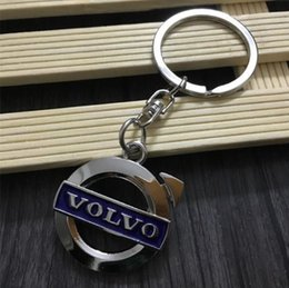 $enCountryForm.capitalKeyWord NZ - New Blue label Volvo vehicle-logo keychain novelty items fashion jewelry gadget trinket promotional keychain christmas gift