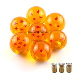 Gear Diameter Australia - Racing Orange Dragon ball Z rare custom Acrylic gear shift knob 54mm Diameter 1-7 star