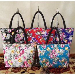 NatioNal flower day online shopping - 5styles Ethnic Style national handbag floral zipper Flowers shoulder bags Mummy Bag business gift party favor FFA1812