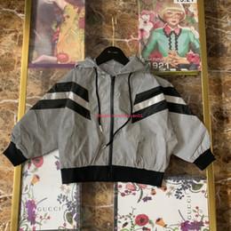 $enCountryForm.capitalKeyWord Australia - Children jacket kids designer clothing autumn new reflective fabric jacket bat sleeve design boys and girls hooded jacket