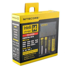 Wholesale Original Nitecore I4 Universal Charger - electronic cigarette battery charger for 18650 18500 26650 I2 D2 D4 battery multi function