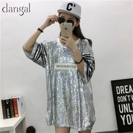 750bd18057 Necklace Sequin T-shirt 2018 Fashion Hip Hop Bling T-shirt Half Sleeve T-shirt  Women Street T Shirt For Stage Dance Club Party Y19042501