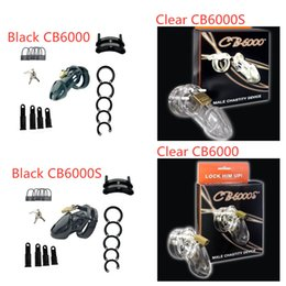 black male cock cage Canada - Black  Clear Plastic Male Chastity Device CB6000   CB6000S Cock Cage Penis Lock Male Chastity Belt Adult Sex Toys For Men Games