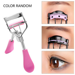 eyelash curling NZ - Random Color 1St New Colorful Cosmetic Eyelash Curlers With Kam Pincet Curling Wimper Clip Cosmetic Eye Beauty Tool