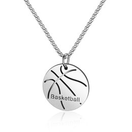 Wholesale Street hip hop student basketball pendant High quality personality hipster male stainless steel necklace Friendship gift GX1545