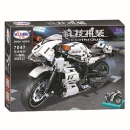 Toys Bricks Australia - 716pcs Creator Technic Street Motorcycle Building Blocks Compatible Legoe Kits Bricks Classic City Moto Model Kids Gift Toys