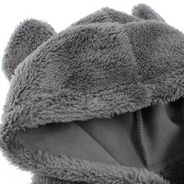 fleece sleeve faux leather jacket NZ - Kids Jacket Winter Hooded Teddy Bear Coat Faux Fur Stitch Fleece Windbreaker Children Jacket Outwear Baby Boy Girl Clothes 19Oct