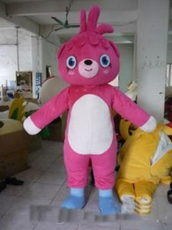 pink bear suit Australia - Professional great big pink bear mascot Fancy Dress Costume Adult Size EPE Suit mascot costume