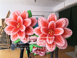 inflatable flowers Canada - High Quality Hanging Inflatable Flower With LED Light For Nightclub Events Party Stage Decoration New Design Advertising Flower