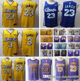 Toptan satış 2020 ŞEHİR Yeni MEN kadınlar çocuk Los Angeles # 23 LeBron Lakerss James forması Anthony 3 Davis Kyle Kuzma Kobe 24 Bryant Sürümü Basketbol formaları