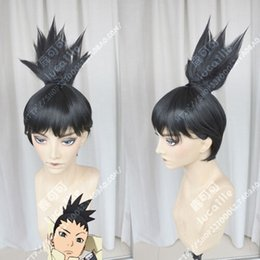 deep wave ponytails 2019 - Boruto: Naruto the Movie Shikadai Nara Shikamaru Black Ponytail Cosplay Hair Wig cheap deep wave ponytails