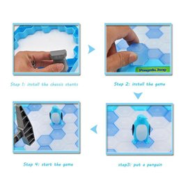 ice puzzle UK - HOT Save Penguin Ice Kids Puzzle Desk Game Break Ice Hammer Trap Party Toy Toys for Children adult 20