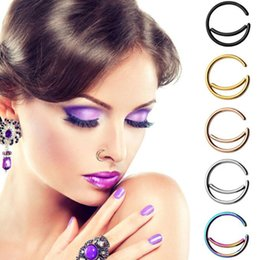 $enCountryForm.capitalKeyWord Australia - Wholesale 100pcs lot Moon Style Nose Ring Nose Piercing Studs For Salon and Body Piercing Supplies
