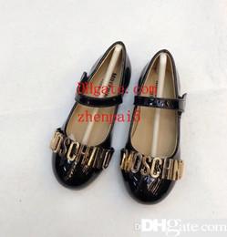 Discount princess magic stick - New Girl Spring and Autumn 2019 Flat-soled Princess Shoes Magic Sticking Princess Shoes QT1904190