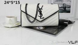 $enCountryForm.capitalKeyWord Australia - High Quality brand designer Shoulder bag Pu leather Fashion Famous chain bag Cross body Pure color Female women's handbag shoulder bag