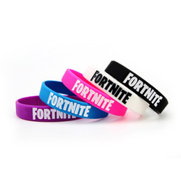 $enCountryForm.capitalKeyWord Australia - 5 colors Game Silicone Bracelet Bangle for Men Women Kids Fortnite Royale Night Bracelets Birthday Party Favor Fans Gift Wristband