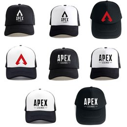 Fan cooled hat online shopping - 2019 Hot Apex Legends D Print New Trucker Cap Game Fans Cool Caps Summer Baseball Net Outdoor Casual Sports Caps Hat For Teenager C6145