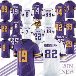 Footballs Free shipping online shopping - 19 Adam Thielen Kyle Rudolph Stefon Diggs Kirk Cousins Anthony Barr Randy Moss Jersey