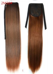 Brown drawstring ponytail online shopping - 138 Synthetic Ponytail Long Straight Hair quot quot Clip Ponytail Hair Extension Blonde Brown Ombre Hair Tail With Drawstring