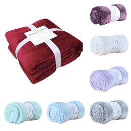 $enCountryForm.capitalKeyWord UK - Soft blanket flannel aircraft sofa bed office baby blanket towel travel fleece portable car travel solid color bed cover