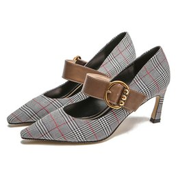 $enCountryForm.capitalKeyWord UK - Europe and the United States new ladies fashion shoes stiletto heels cat with buckle fashion pointed four seasons shoes