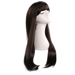 Hot Ladies Long Hair UK - Dark brown hot style fashion ladies pear head fluffy long curly hair Loose Wave chemical