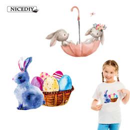 $enCountryForm.capitalKeyWord Australia - Cartoon Animal Raccoon umbrella Heat Transfer For Cloth Iron On Printing Rabbit Transfer DIY Summer T-shirt Accessory